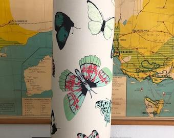 Linen butterfly circle lamp