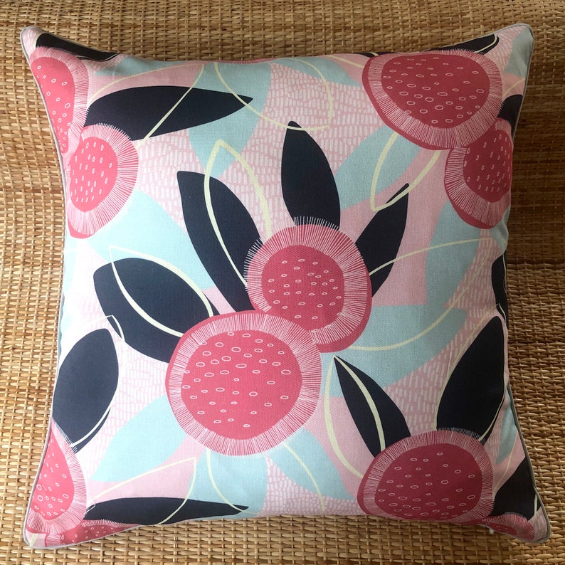 australian native banksia bloom piped cushion cover image 0