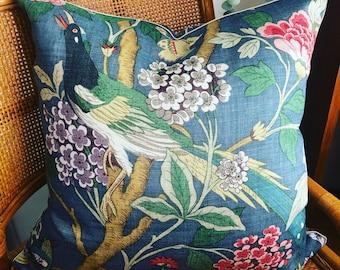 Exotic bird cushion