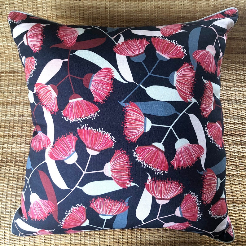australian native flowering gumnut cushion cover image 0