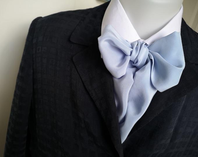 Floppy Bow Tie - mens - self tie - just for men - pure silk crepe de chine, sky blue - Bagzetoile handmade  mens bowties