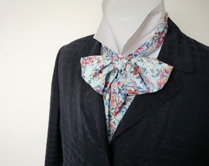 Floppy bow tie, period style, costume, Regency style, beautiful floral print.