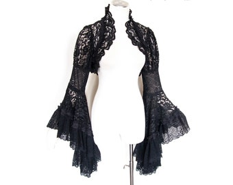 Goth lace tunic approx size XL Somnia Romantica see item details for measurements XL empire waist witchy mini dress gothic