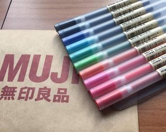 MUJI gel pens, Muji Pens, Muji pens refill, 0.38/0.5mm Muji MoMA FREE SHIPPING