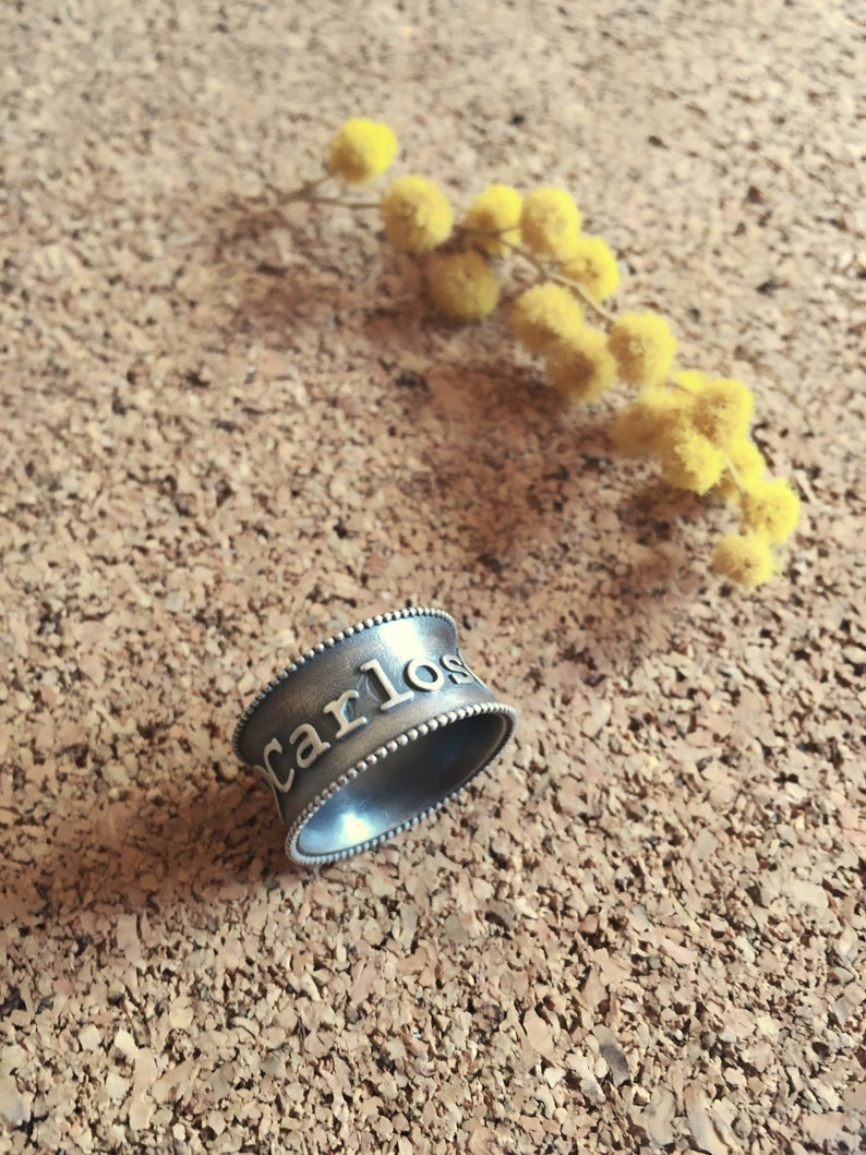 Children name ring Personalized gift for men and women Custom name ring Infinity ring Statement jewelry