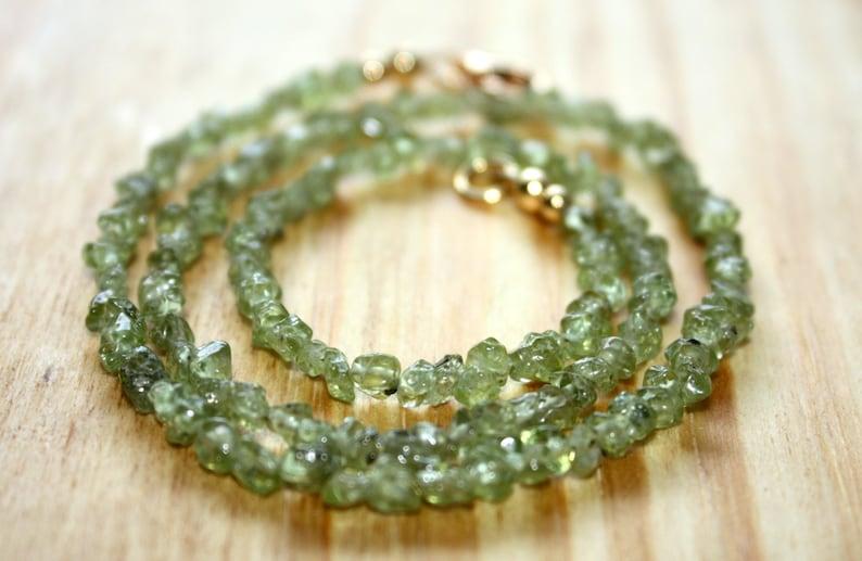 Peridot And Gold Necklace Peridot Bracelet August Birthstone Necklace Semiprecious Green Gemstone Peridot Choker