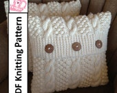 Knit pattern pdf, Cable knit pillow cover pattern, Blackberry Cables in 5 sizes - PDF KNITTING PATTERN