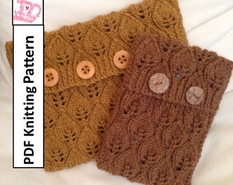 PDF KNITTING PATTERN,  sleeve, cover, case for iPad Mini, Kindle Fire , Nook, E Reader, tablet, iPad