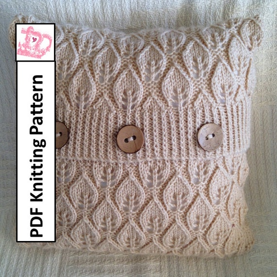 Pdf Knitting Pattern Pillow Cover Knitting Pattern Knitted Etsy