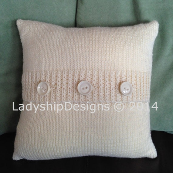 Pdf Knitting Pattern Knit Pillow Cover Pattern Knitted Etsy