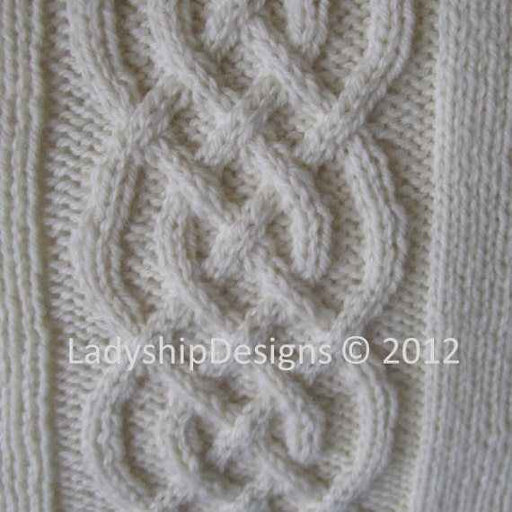 Knit Pattern Pdf Celtic Knot Cable Knit Pillow Cover In 4 Etsy