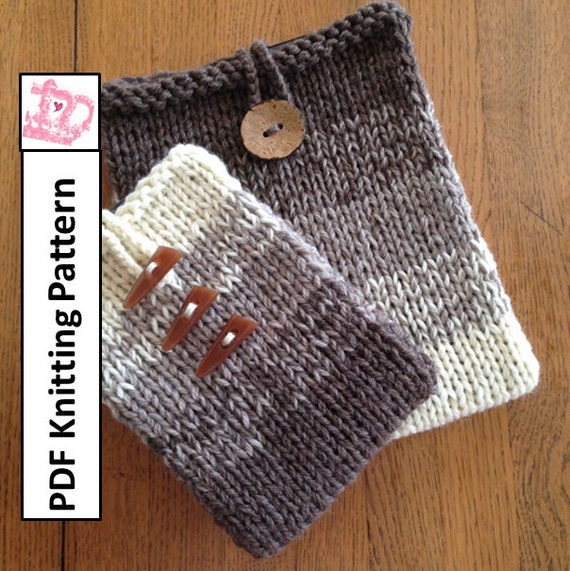 Pdf Knitting Pattern Easy Ombre In Two Sizes Sleeve Cover Etsy