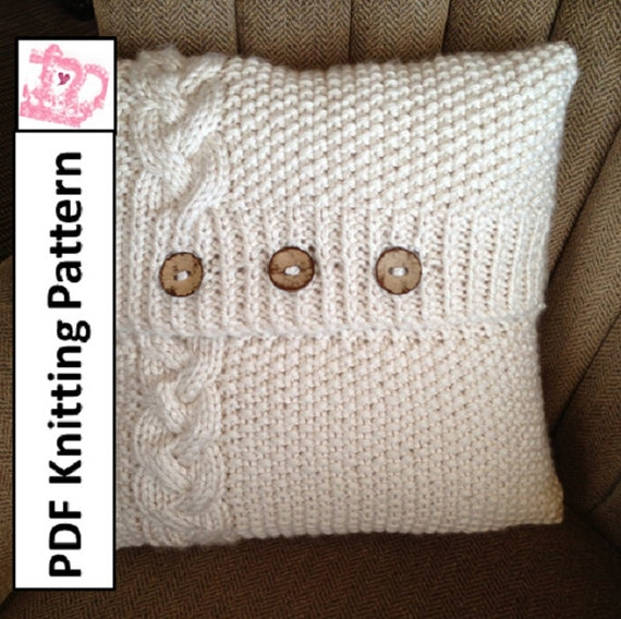 Pdf Knitting Pattern Braided Cable 20 X 20 Etsy