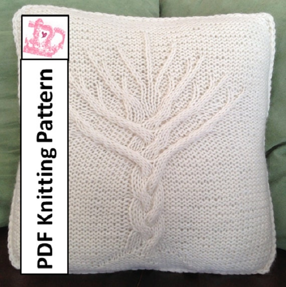 Tree Of Life Knit Pattern Tree Of Life Pillow Cover Knitting Etsy