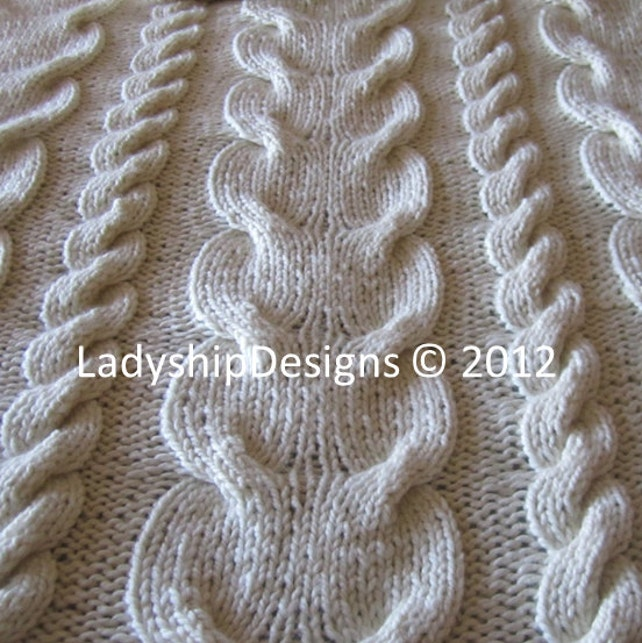 Cable Knitting Pattern Knit Pattern Pdf Super Chunky Cable Etsy