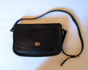 aa6fc2f39ff1 Vinate Coach Purse - black coach purse - coach shoulder bag - black leather  coach