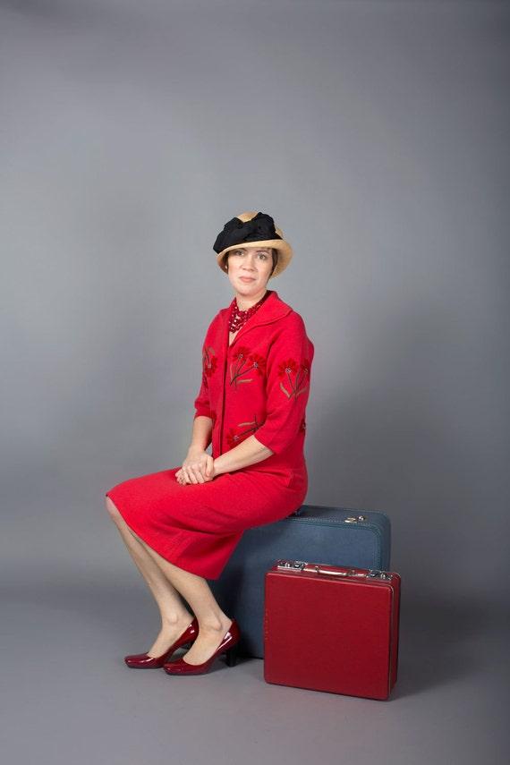 Vintage Italian Fashion - Red Wool Skirt Suit - Ge