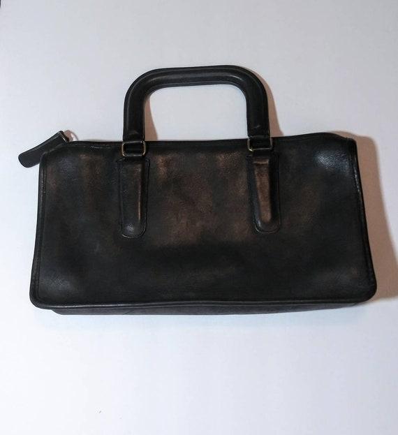 Vintage coach satchel - small coach tote - vintag… - image 1