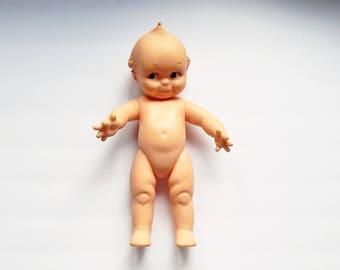 Vintage Kewpie Doll - Cameo Kewpie - Vinyl Kewpie - Vintage Doll - Signed Cameo Kewpie - Composition Doll