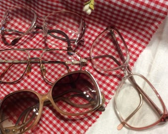 4 Pairs of Retro '80's Style Eye Glass Frame