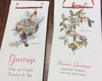 Birds 1960's Calendar by Gould & Audubon Bird prints