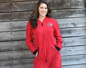 133f2af7c0 Adult Onesie Red Christmas Pajama