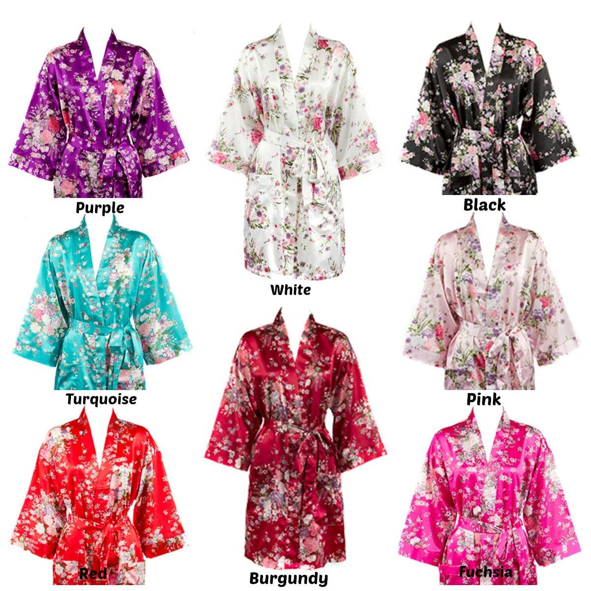 eff1182d7c Floral Monogrammed Satin Robe Floral Satin Robes
