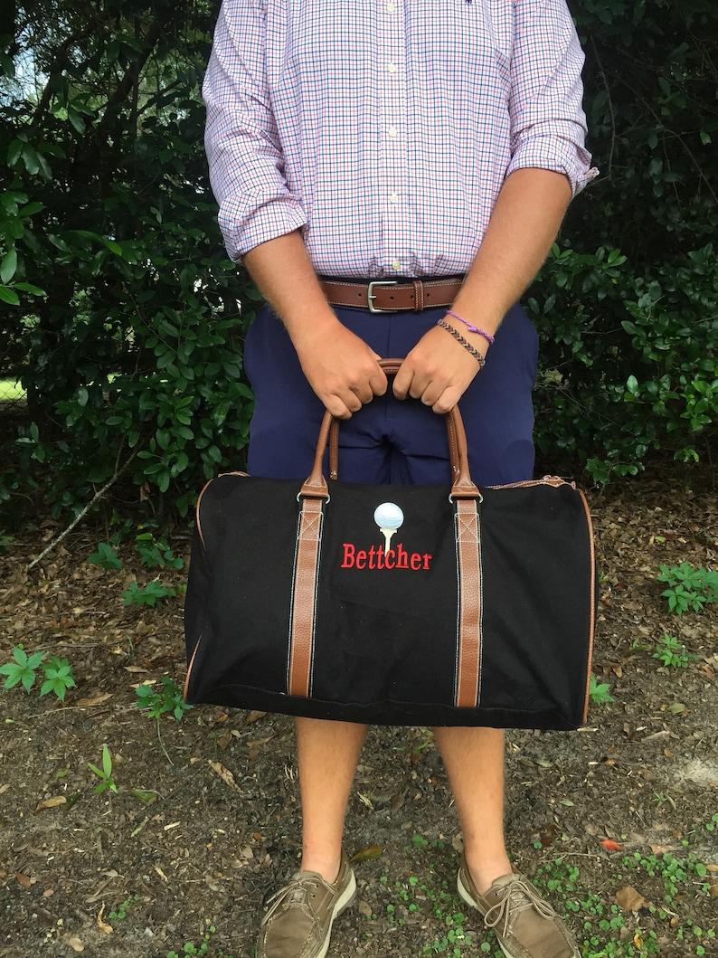 f9930ad36 Mens Gift Monogrammed Travel Duffle Bag Men's | Etsy