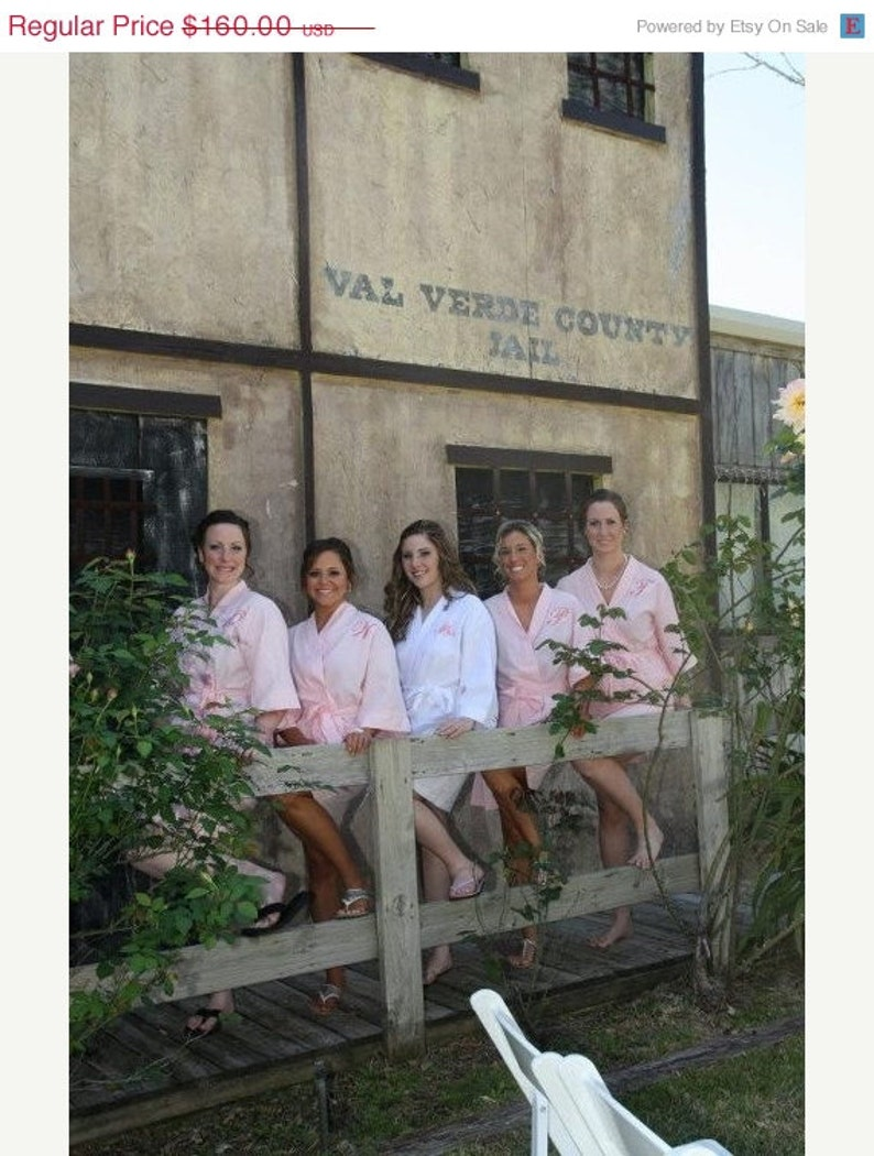Bridesmaid Robes Bridesmaids Robes Bridal Robes Monogrammed Waffle Weave Robe for Wedding Party Bride Robes Personalize Set of 5