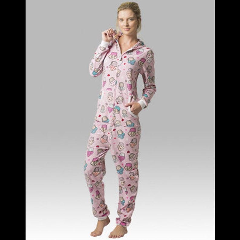 a70648619 Onesie Pajama Adult Monogrammed Onesie Personalized Lounger