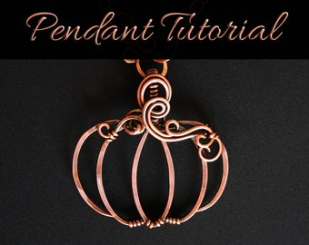Wire Wrapped Pumpkin Pendant Template Pattern : Downloadable File with Video Tutorial   Intermediate Wire Wrapping Project