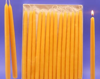 100 Hand Dipped Beeswax Tapers, 50 Pair Of 1/2 x 10 Beeswax Candle Tapers, Bulk Beeswax Tapers, Bulk Beeswax Candles, Decor Lighting