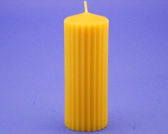 "Beeswax Pillar, 2"" x 5"" Beeswax Candle, Canadian Pure Bees Wax Candle, Beeswax Cappings Candle, Bees Wax Pillar Candle, Gift For Him Or Her"