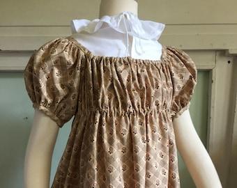 Girls Early 19th Century / Regency Era Gown  sz. 8-10
