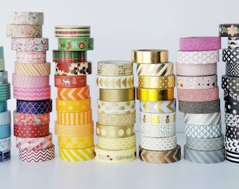 SALE* Washi Tape Set of 10 Mixed Grab Bag Planner Accessories Gold and Glitter Washi Included