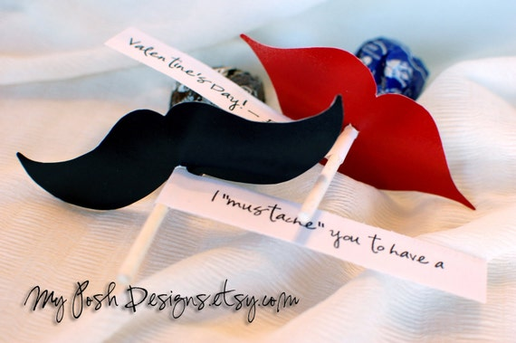 mustache and lips printables for suckers valentine s day etsy