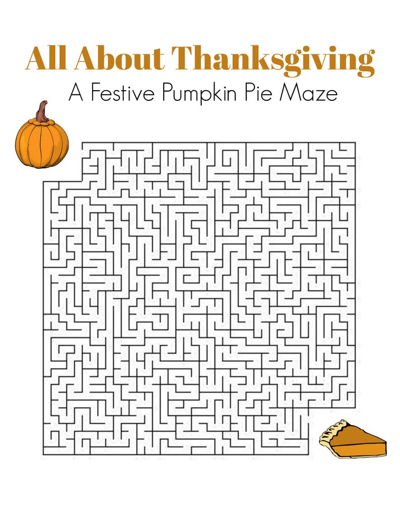 Thanksgiving Game Puzzle Set of 3 Crossword Word Search | Etsy