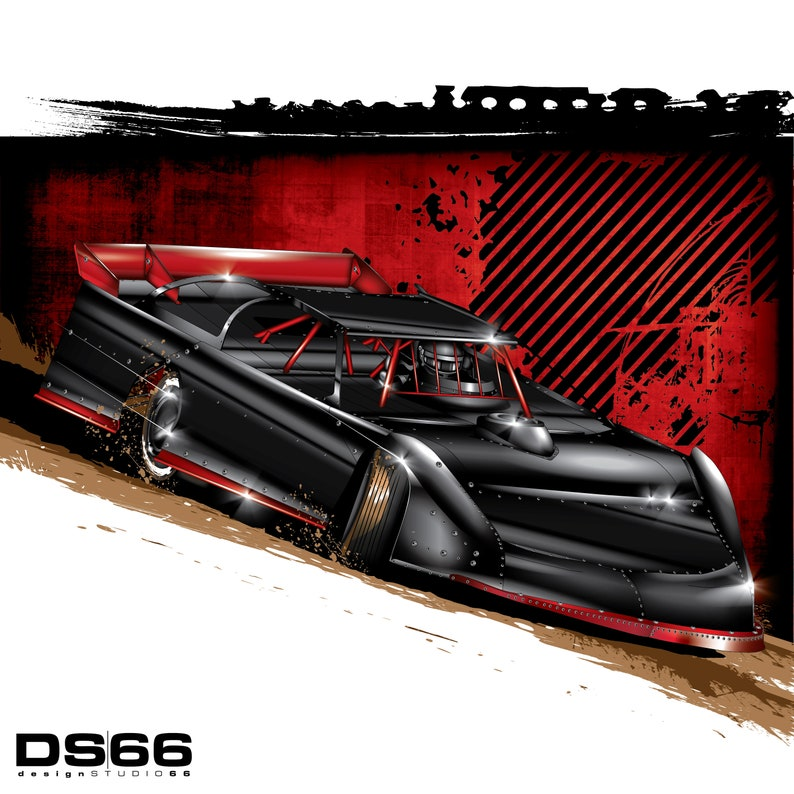 Dirt Late Model 2 Illustration
