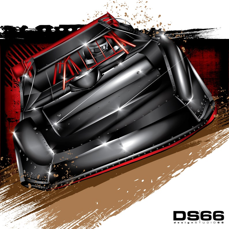 Dirt Late Model 3 Illustration