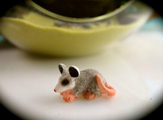 Accessories Miniature Dollhouse FAIRY GARDEN Mini Opossum