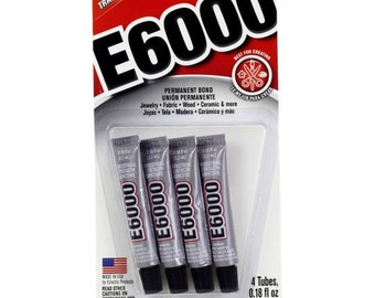 E6000 Glue ~ 2 oz or .18 oz ~ Perfect for air plants ~ Glue to wood or Sea shells ~ Dries quickly ~ Doesn't hurt the Plant ~ 1 Tube Only
