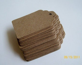 Kraft Tags MEDIUM - Set of 50