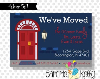 Printable New House Front Door Change of Address Card - Digital File