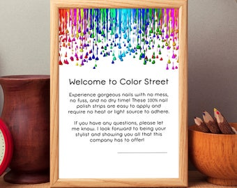 8.5x11 Welcome to Color Street Album Page or Sign