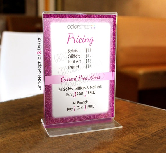 color street 8x10 pricing flyer handout sign etsy