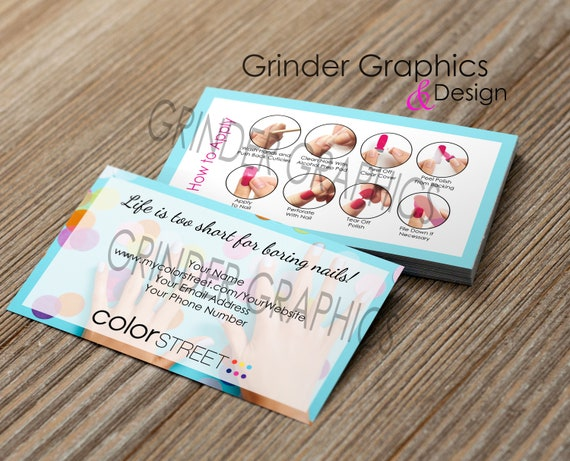 Color Street Personalized Business Cards Digital Download Etsy