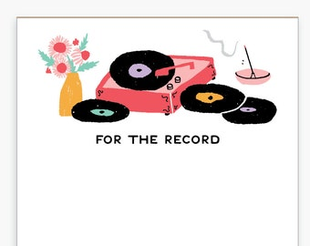 Record Player Notepad, To Do List, Grocery List, Shopping List