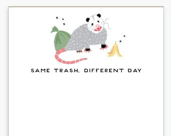 Possum Notepad, Opossum, Funny, Paper Goods, To Do List, Memo Pad, Desk Supplies, Office Supplies, List Pad