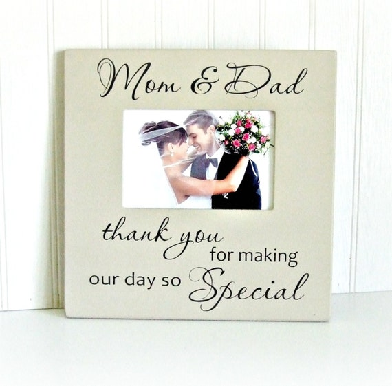 Parent Thank You Wedding Frame Parents Thank You Frame Gift