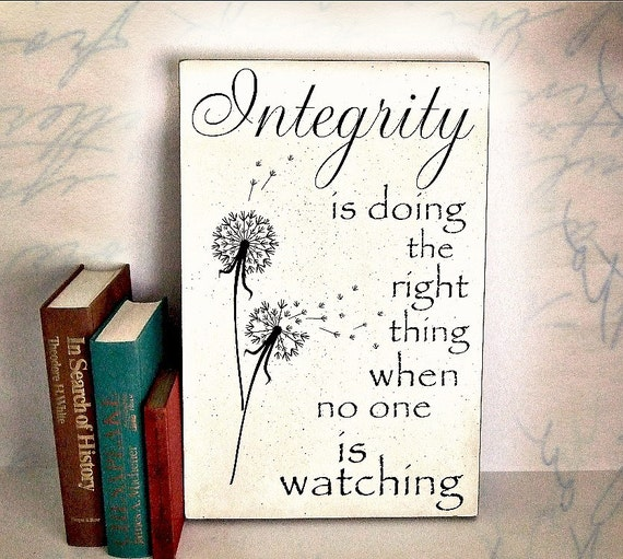 Integrity Quote By C S Lewis Integrity Is Doing The Right Etsy